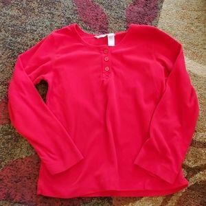 Red, pajama top, small